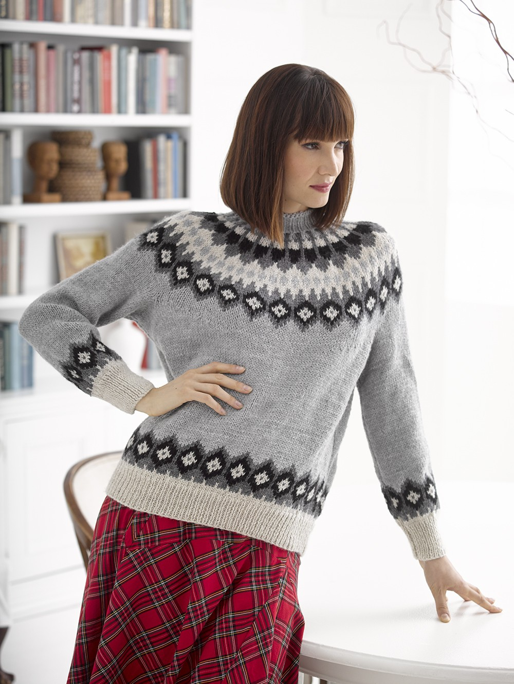 Yoke Knitting Pattern The Yoke Sweater Trend In 13 Patterns Lion Brand Notebook