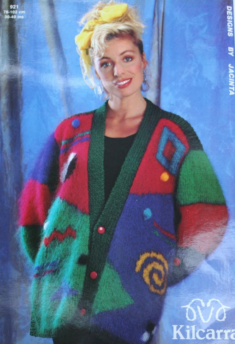 Cardigan Sweater Knitting Pattern Cardigan Sweater Knitting Pattern For Women Kilcarra 921 In Mohair Yarn Sizes 30 40 76 102 Cm Paper Original Not A Pdf