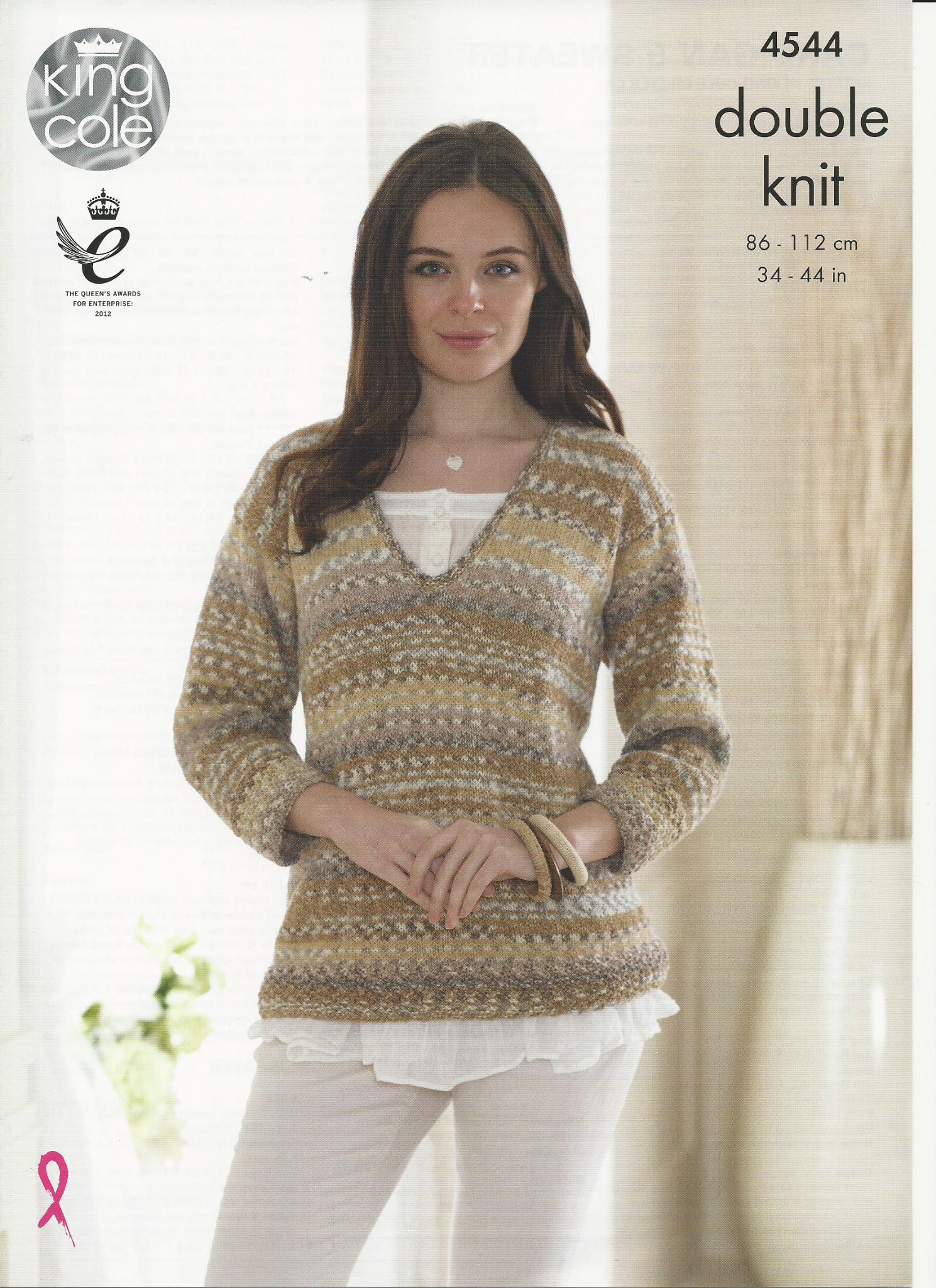 Cardigan Sweater Knitting Pattern King Cole Ladies Cardigan Sweater Knitting Pattern In Drifter Dk 4544