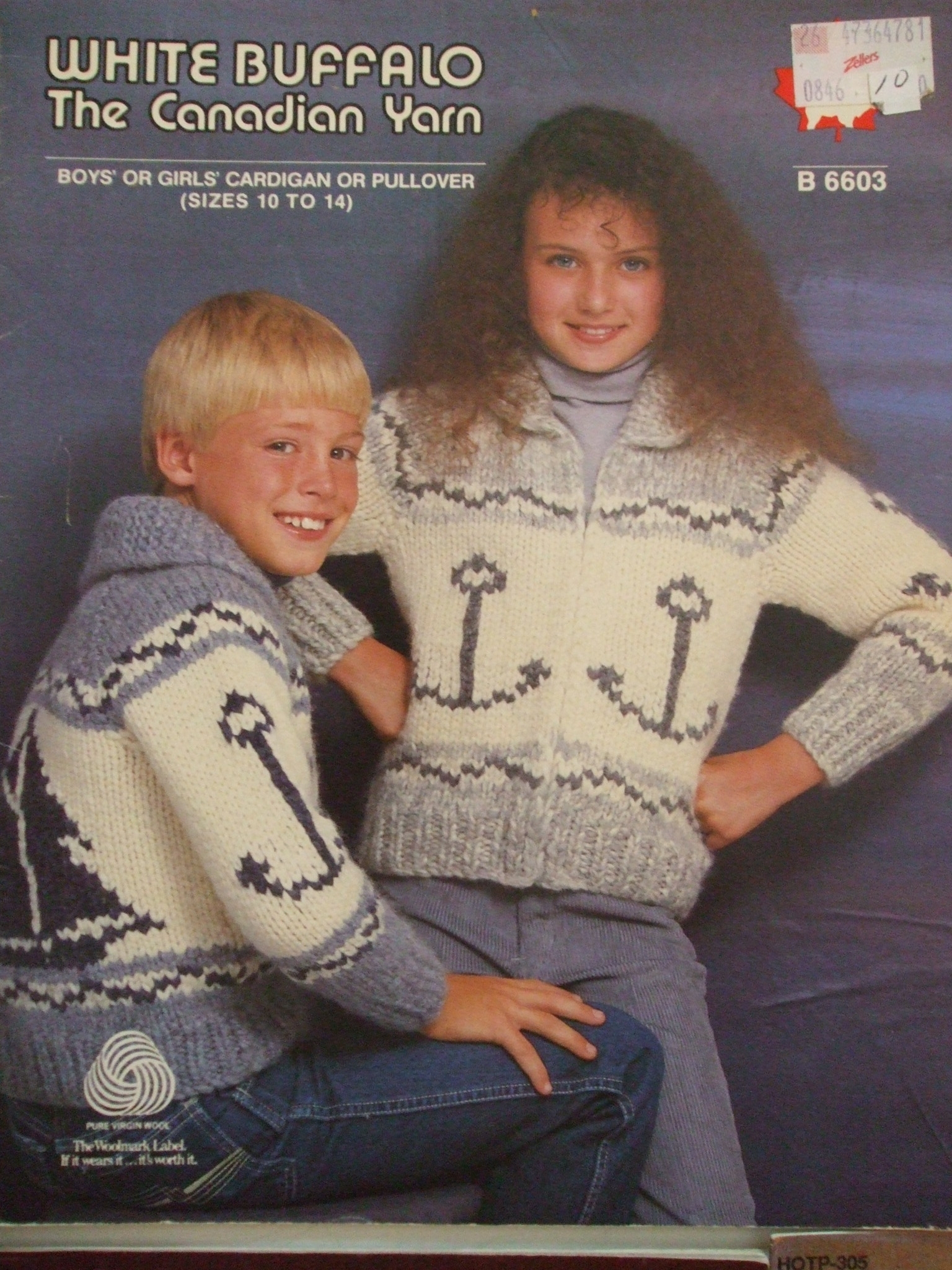 Cardigan Sweater Knitting Pattern White Buffalo B6603 Nautical Zippered Cardigan Sweater Anchor Sz 10 14 Knitting Pattern