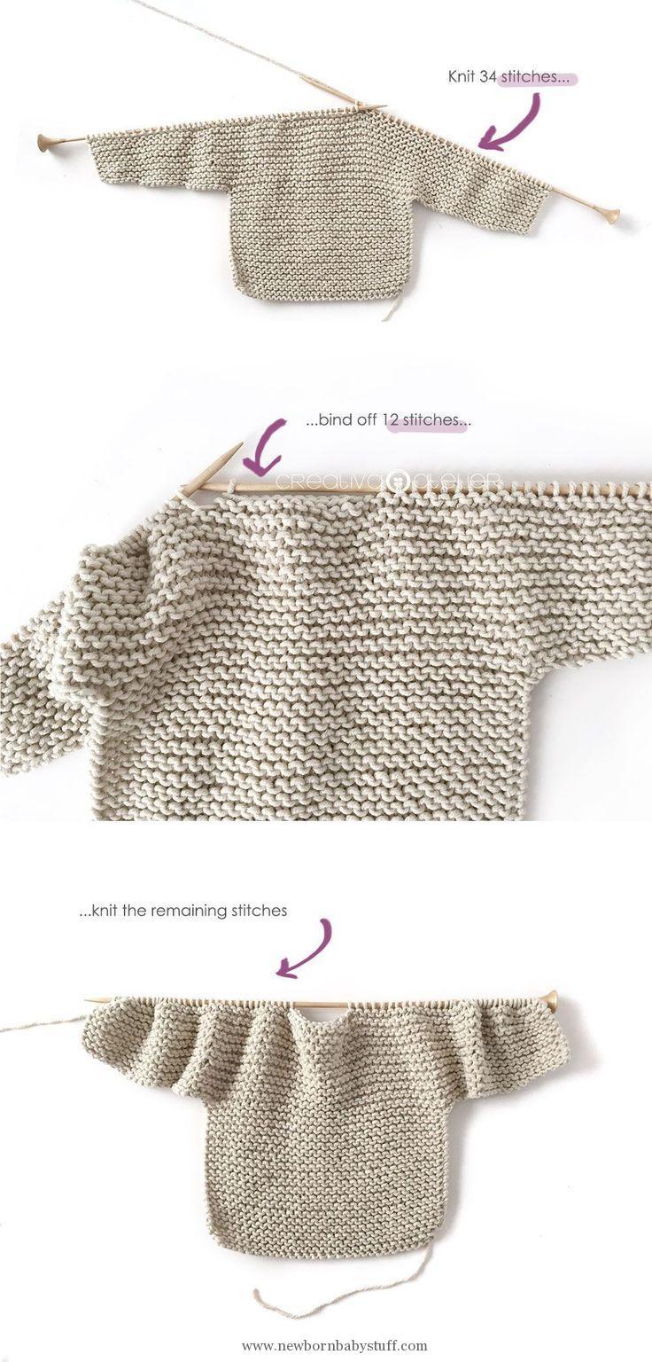 Free Baby Knitting Pattern Ba Knitting Patterns How To Make A Knitted Kimono Ba Jacket