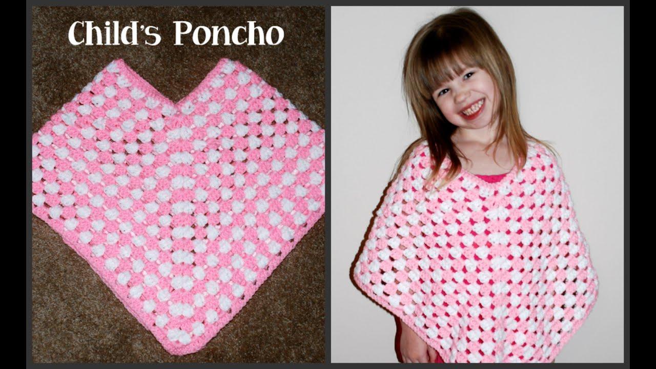 Free Easy Baby Poncho Knitting Pattern Crochet Child Poncho Tutorial Crochet Jewel