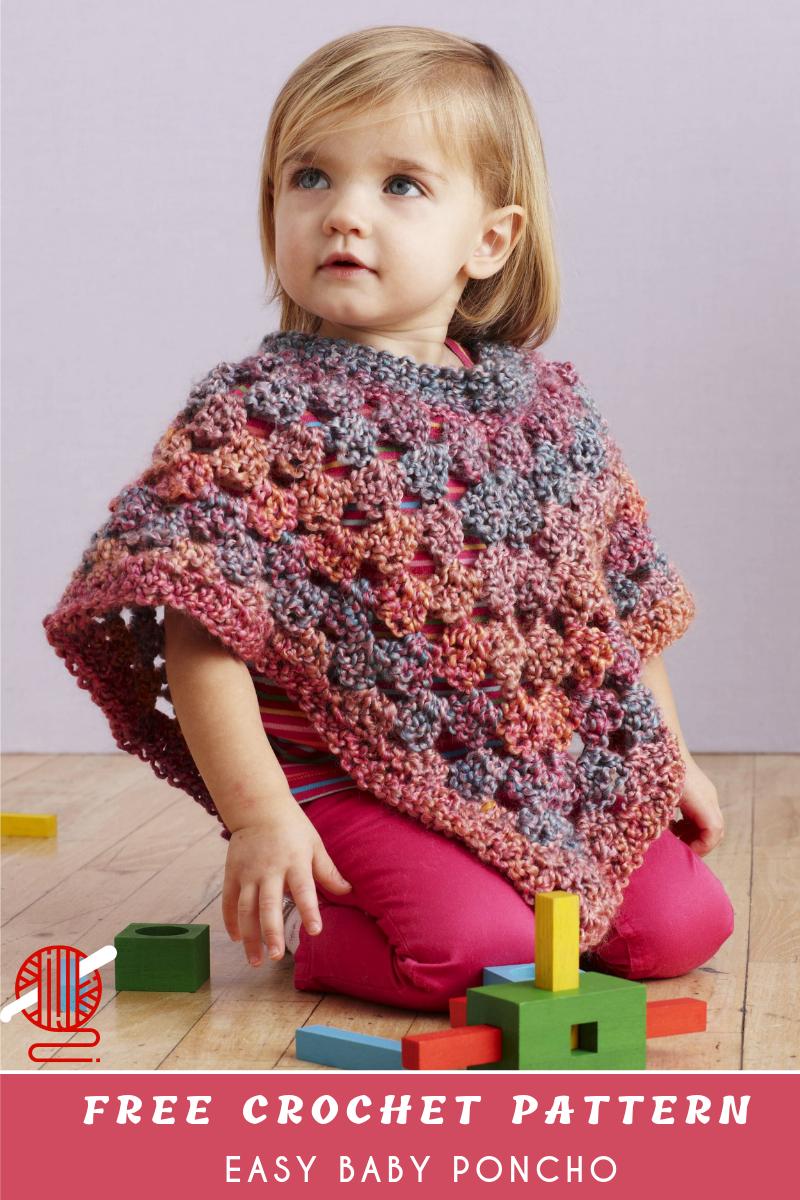 Free Easy Baby Poncho Knitting Pattern Easy Ba Crochet Poncho Free Pattern Center