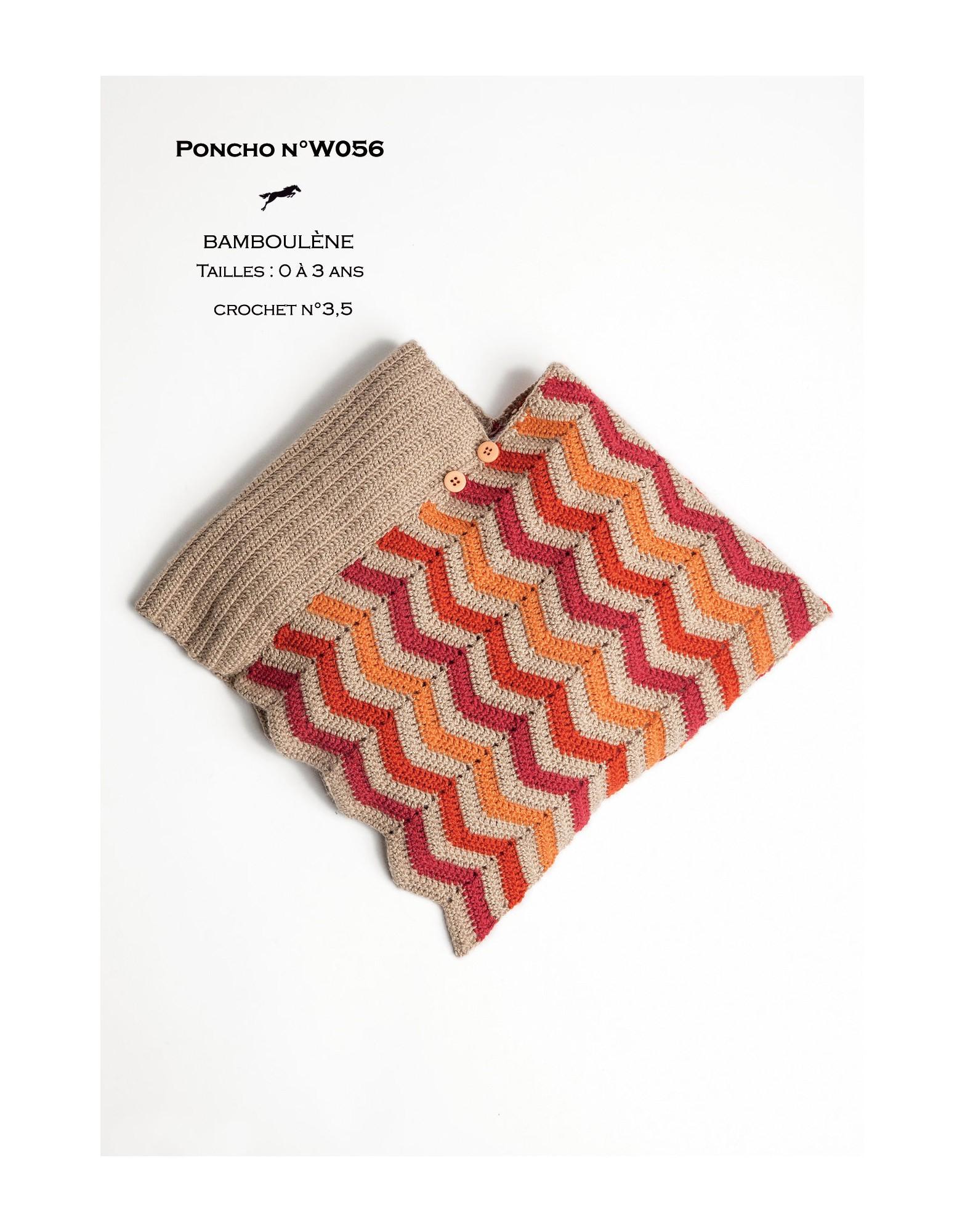 Free Easy Baby Poncho Knitting Pattern Poncho Pattern W056 Free Knitting Pattern Cheval Blanc