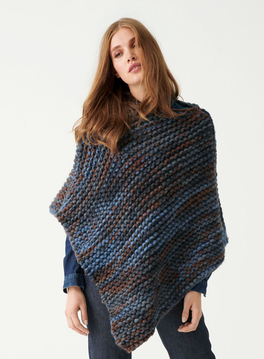 Free Easy Baby Poncho Knitting Pattern Poncho Weekend Color