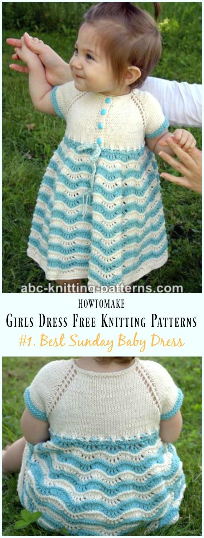 Free Knitted Top Patterns Little Girls Dress Free Knitting Patterns