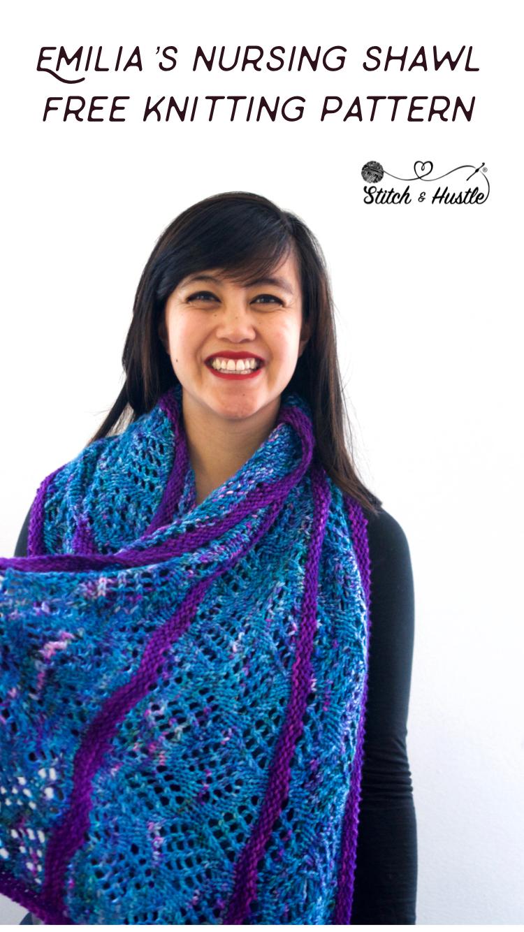 Free Knitted Top Patterns Oliphant Kat Nursing Shawl Free Knitting Pattern Stitch Hustle