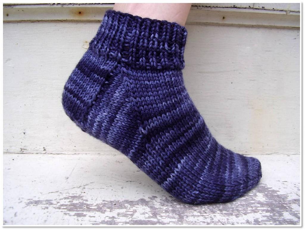 Free Knitting Patterns For Bed Socks Free Knitting Pattern Easy Peasy Socks Shiny Happy World