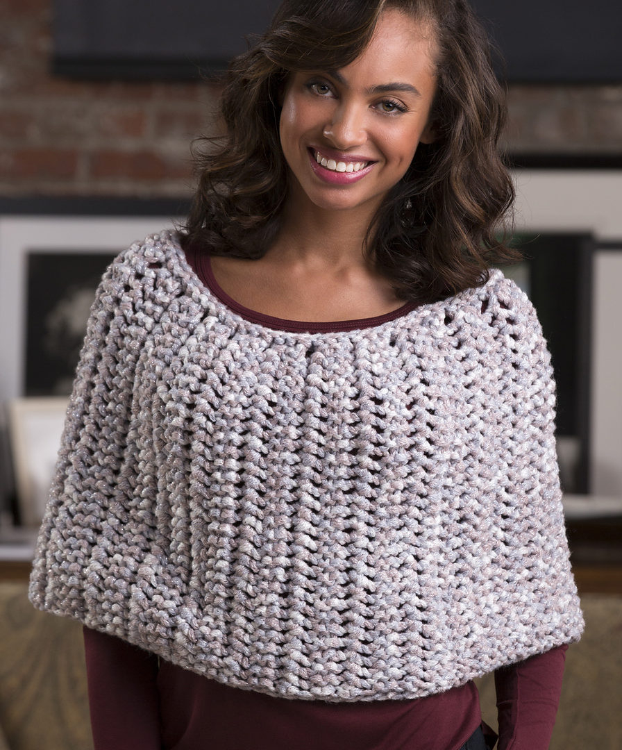 Free Knitting Patterns For Ponchos Or Capes Easy Poncho Knitting Patterns In The Loop Knitting