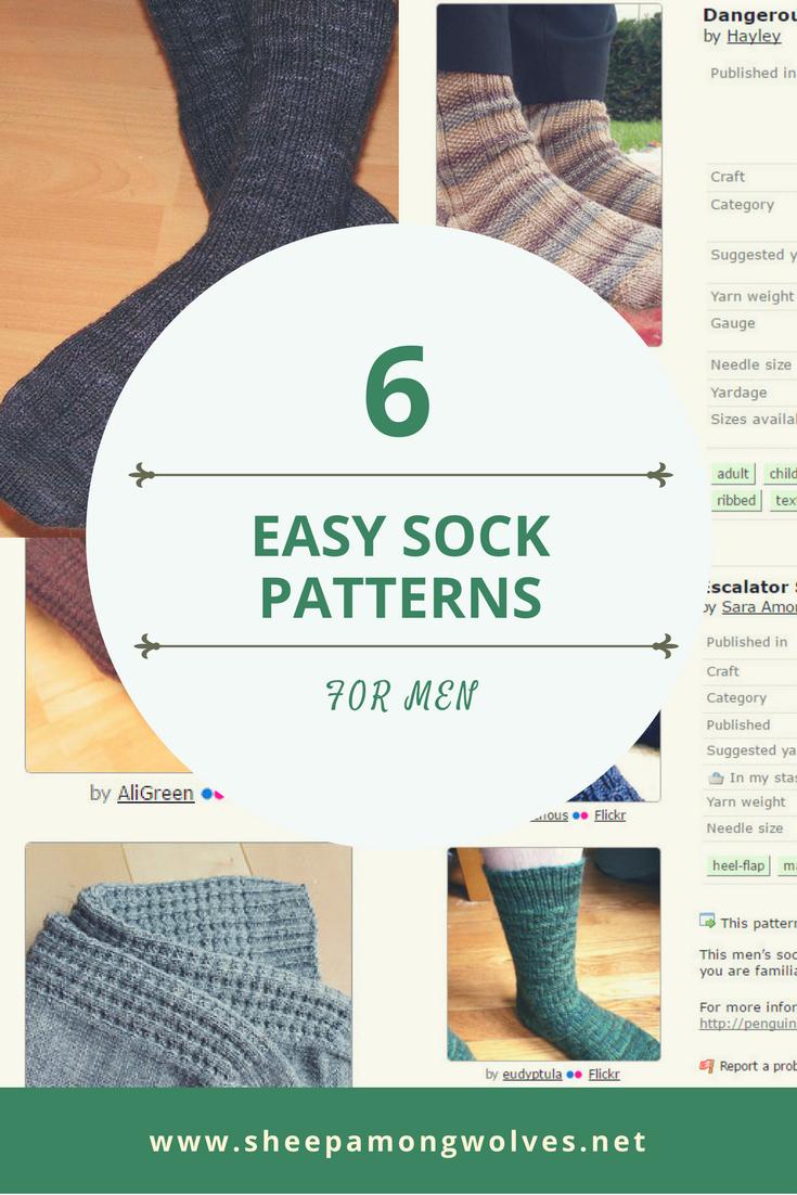 Free Knitting Patterns For Socks On Four Needles 6 Easy Sock Patterns For Men Sheep Among Wolves