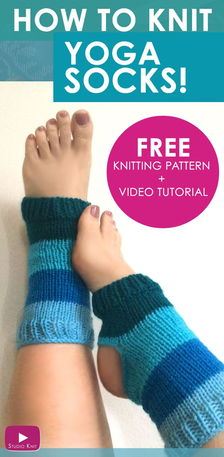 Free Knitting Patterns For Socks On Four Needles How To Knit Yoga Socks Pattern With Video Tutorial Studio Knit