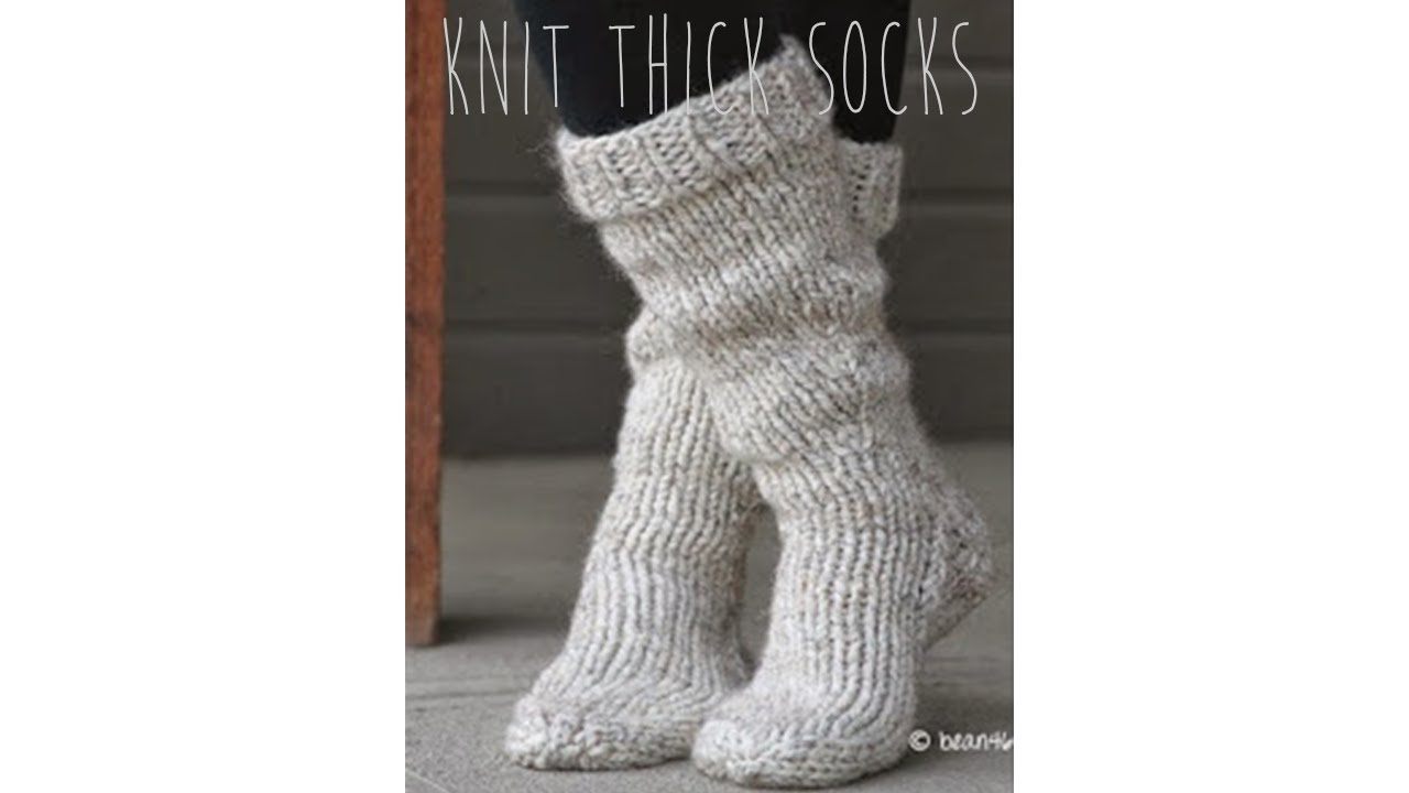 Free Knitting Patterns For Socks On Four Needles Knitting Tutorial Fast Easy Thick Socks