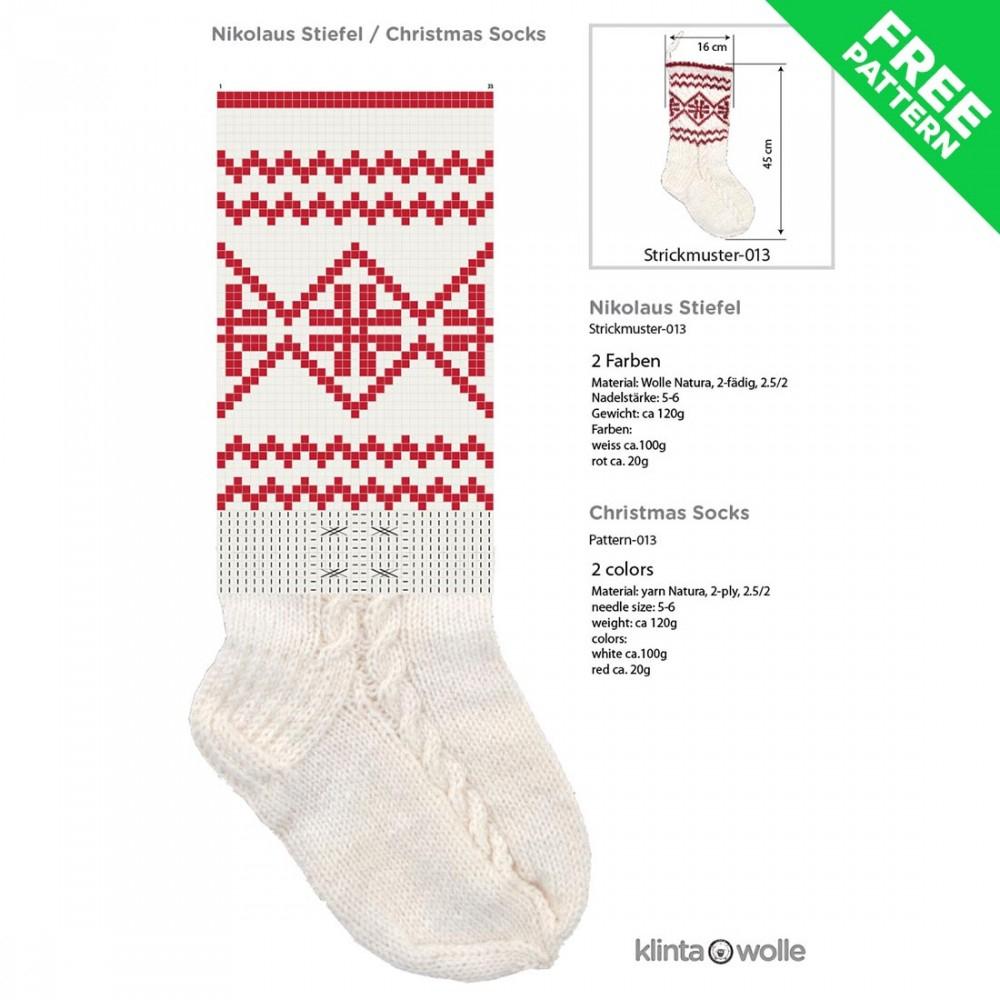 Free Knitting Patterns For Socks On Four Needles Patterned Christmas Stocking Free Knitting Pattern 13 Easy Level