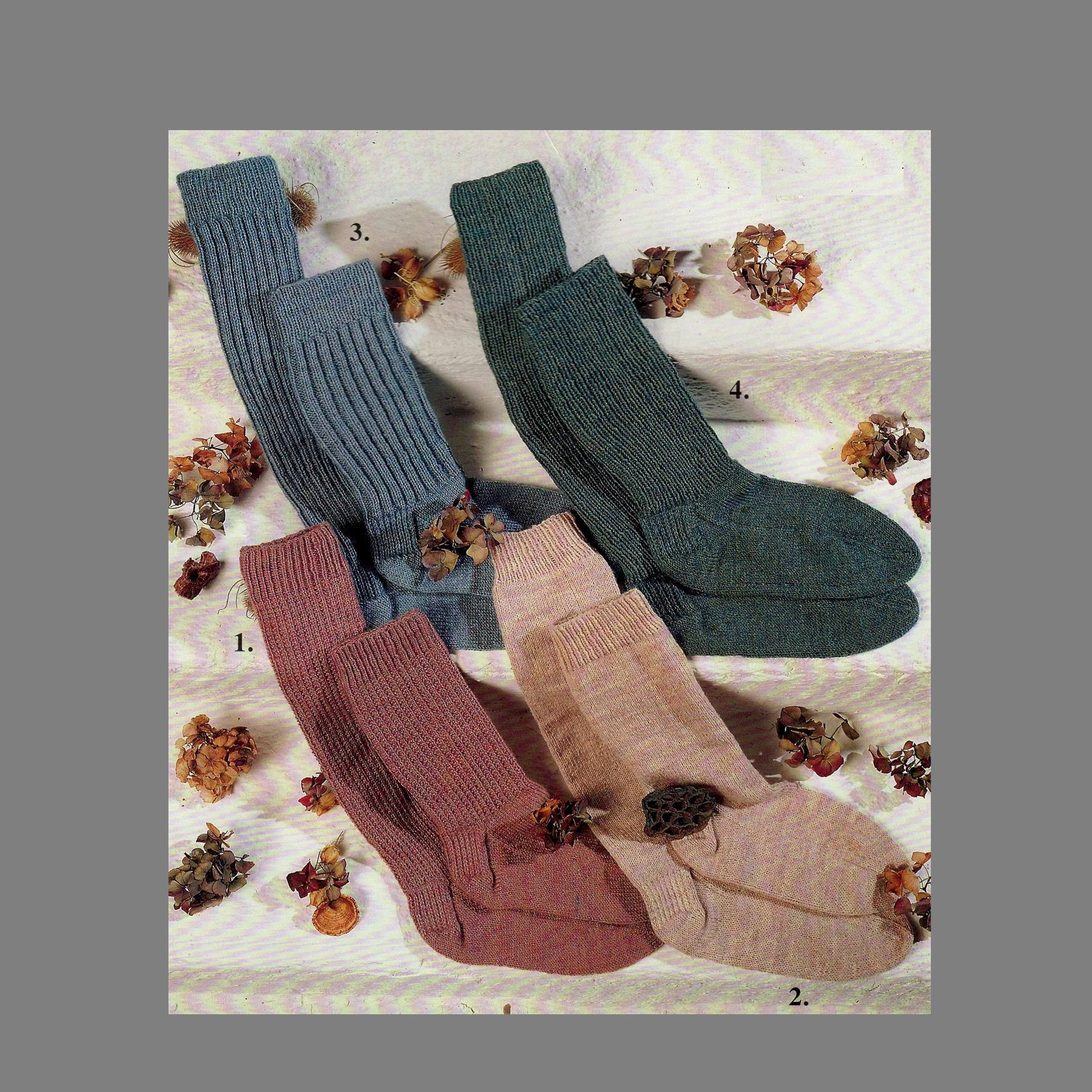 Free Knitting Patterns For Socks On Four Needles Pdf Knitting Pattern 4 Ply Socks In 4 Styles 3 Sizes Socks Knitted On Four Needles Pdf Instant Download Post Free Knitting Patterns