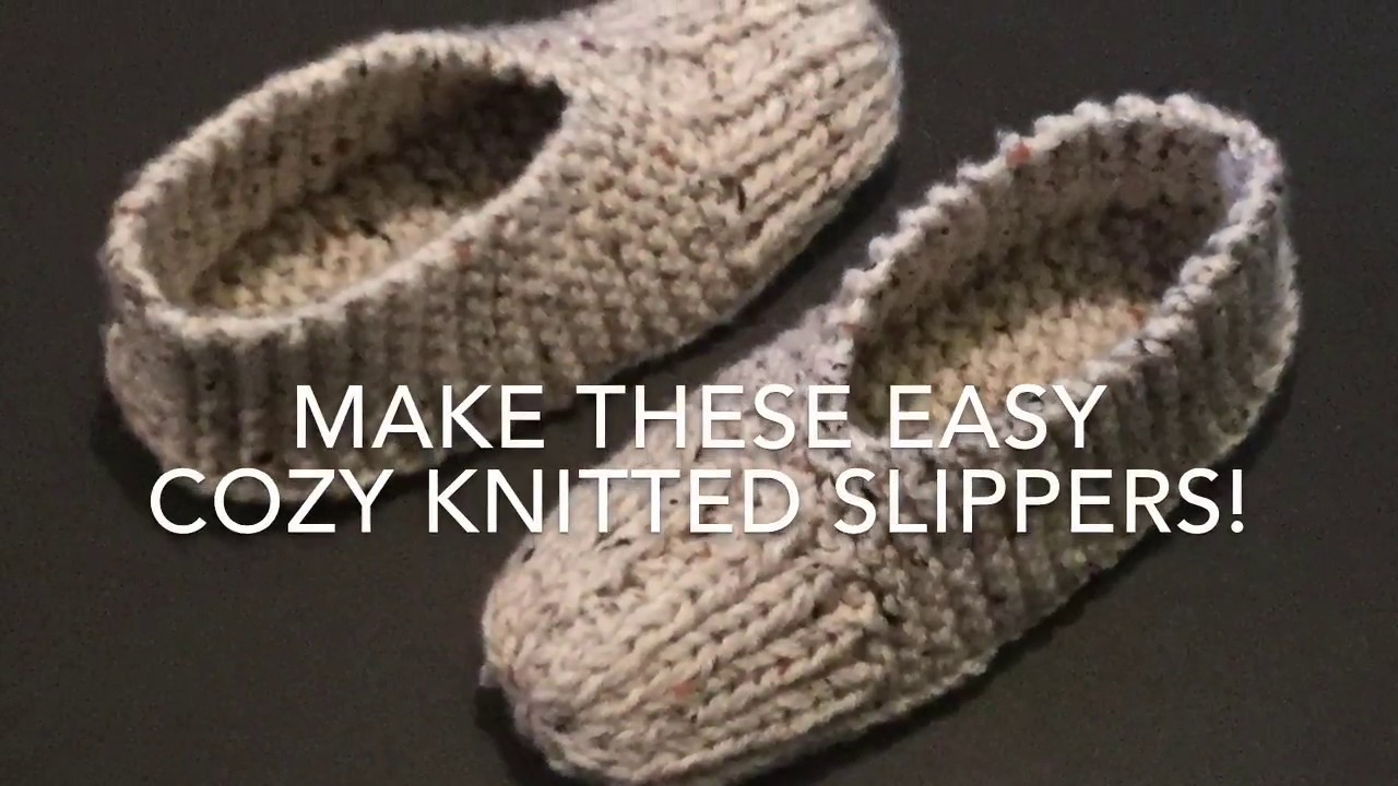 Free Patterns For Knitted Slippers Knitted Slippers Easy For Beginners