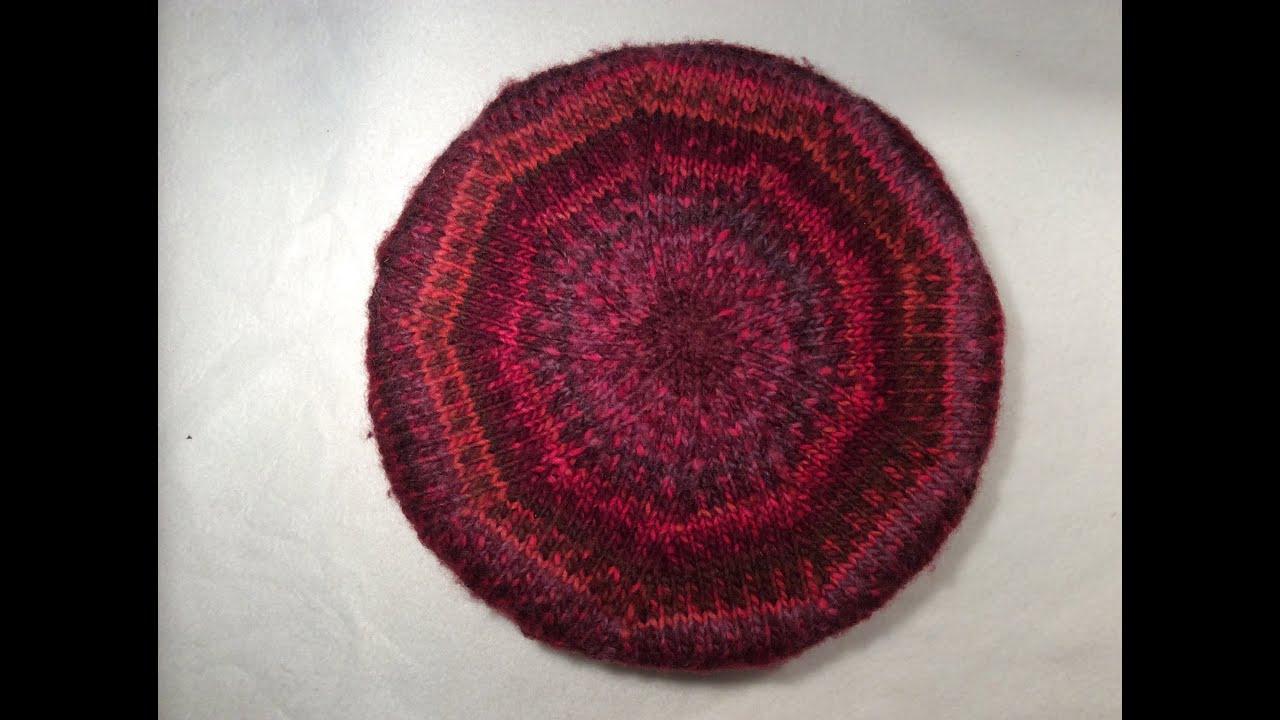 Knit Circle Pattern How To Knit A Flat Round Circle