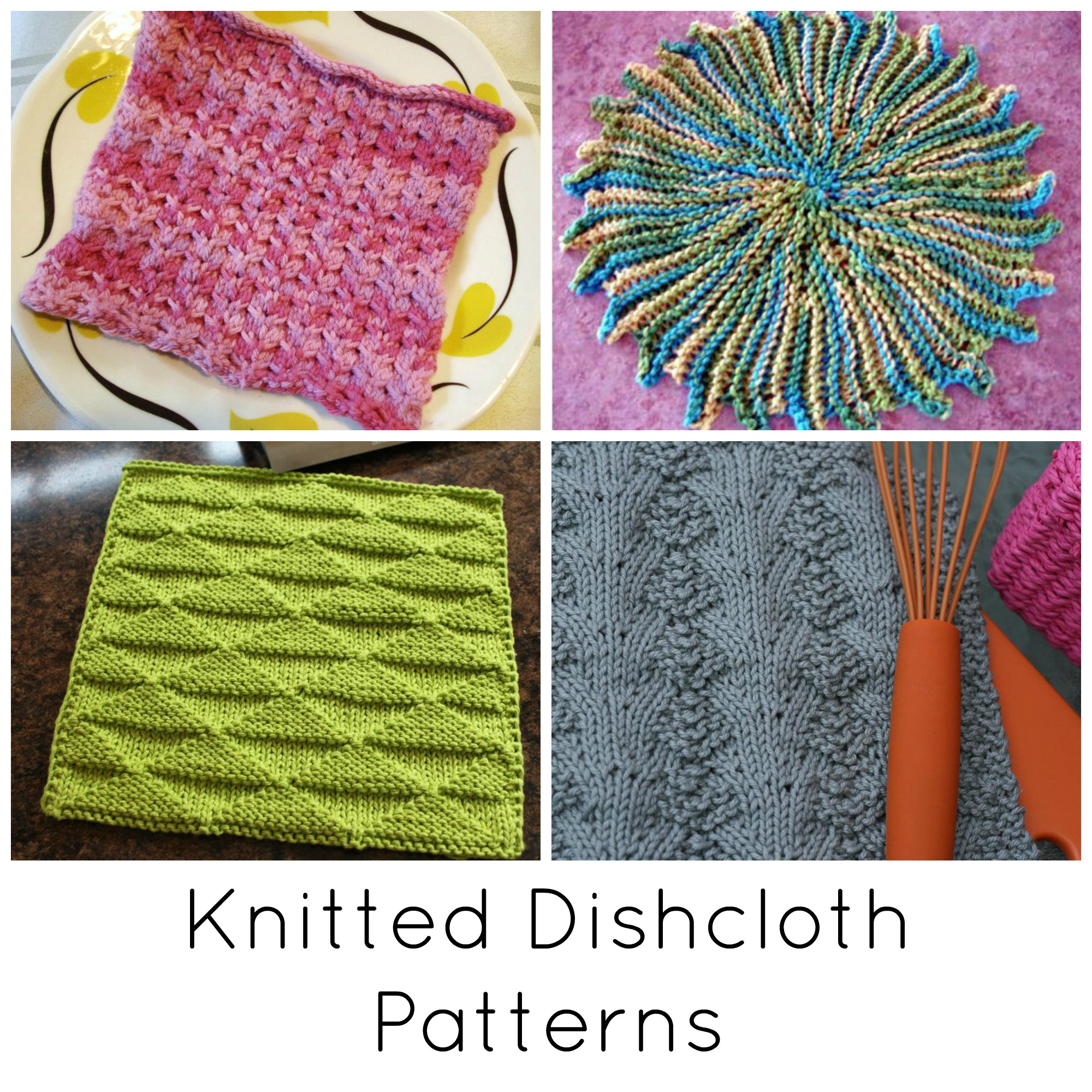 Knit Washcloth Patterns 10 Quick Knitted Dishcloth Patterns
