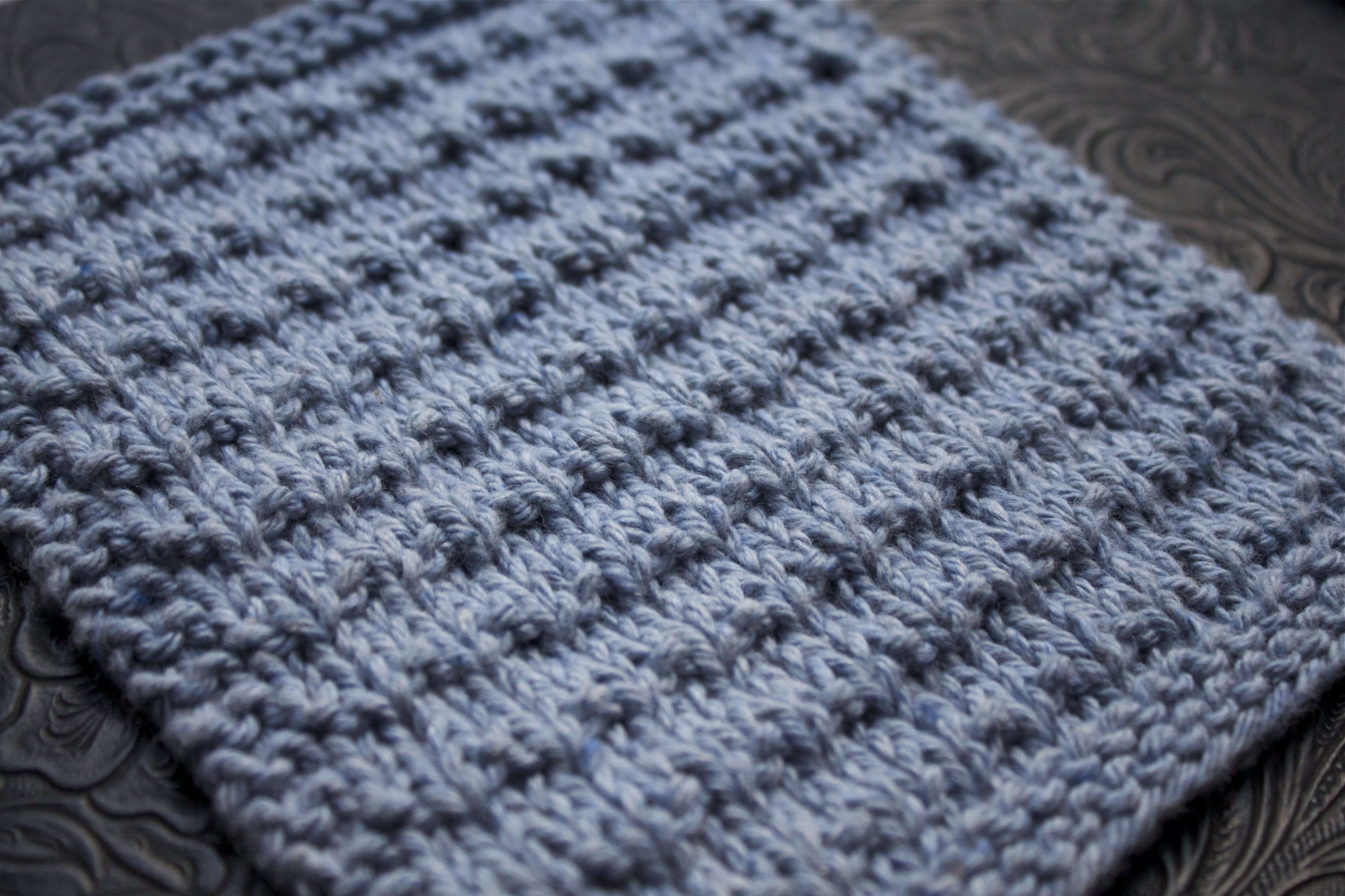 Knit Washcloth Patterns Andalutheean Knitted Dishcloth
