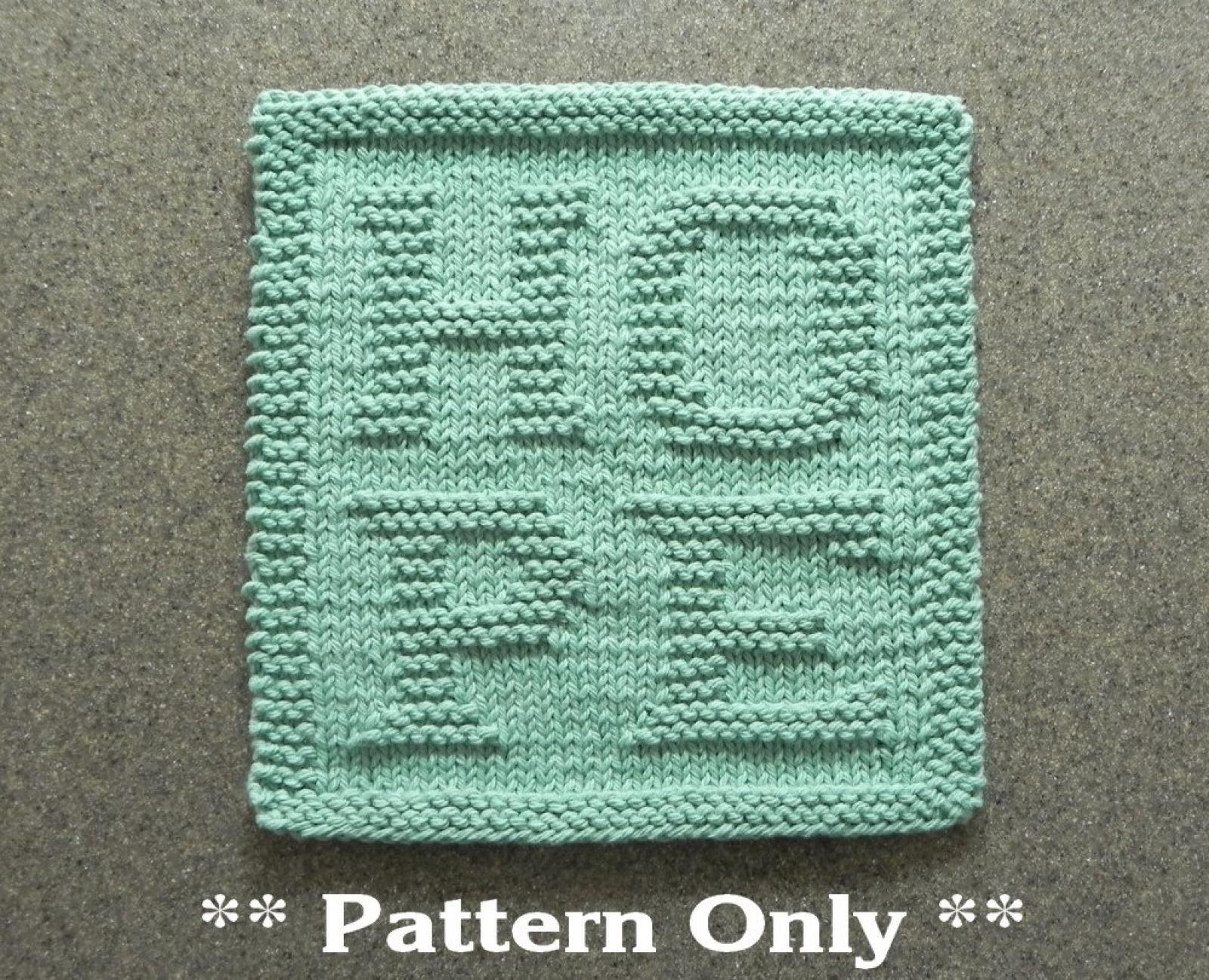 Knit Washcloth Patterns Hope Knitting Pattern