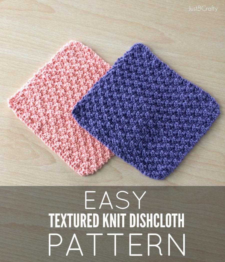 Knit Washcloth Patterns New Free Pattern Textured Knit Dishcloth Pattern Just Be Crafty
