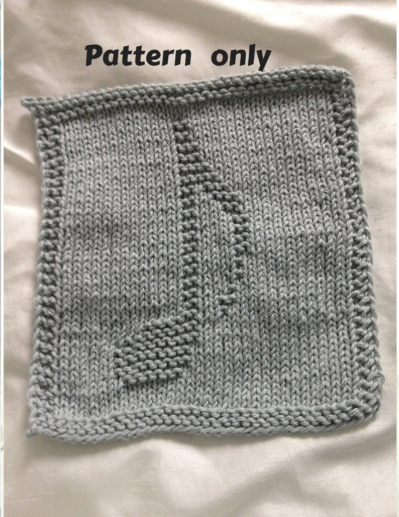 Knit Washcloth Patterns Pattern Dishcloth Washcloth Knitting Pattern Musical Note