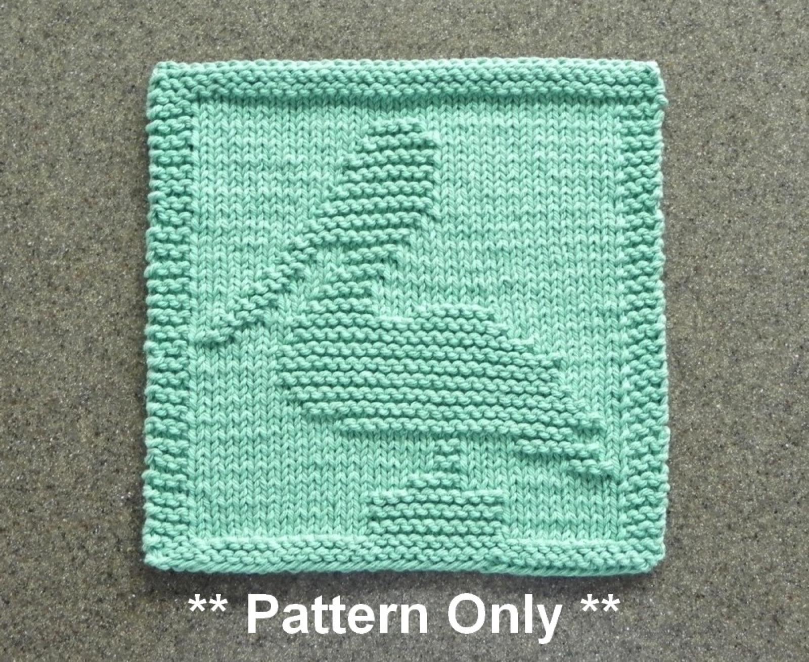 Knit Washcloth Patterns Pelican Dishcloth Knitting Pattern