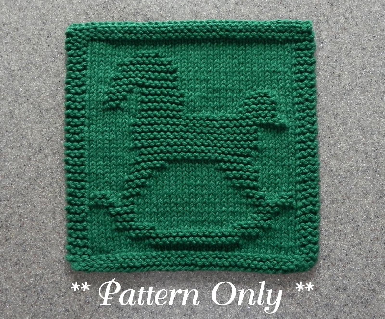 Knit Washcloth Patterns Rocking Horse Knitting Pattern Square
