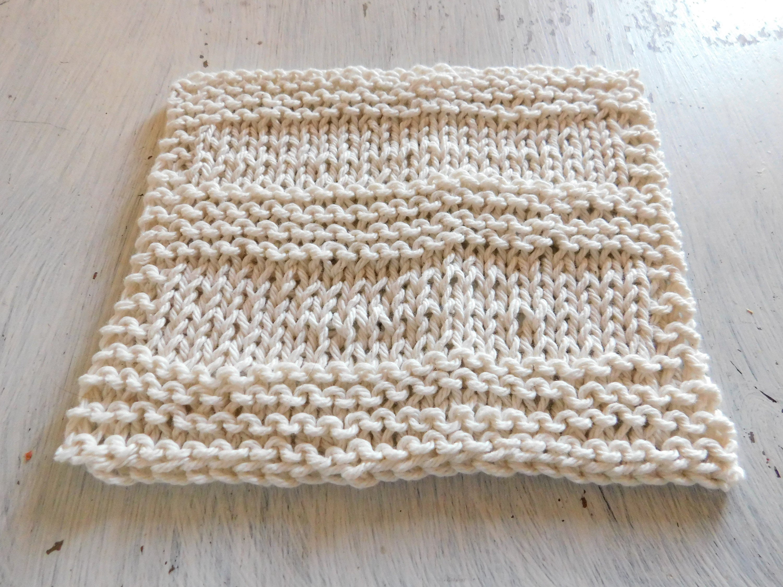 Knit Washcloth Patterns Washcloth Pattern Easy Knitting Pattern Beginner Knitter