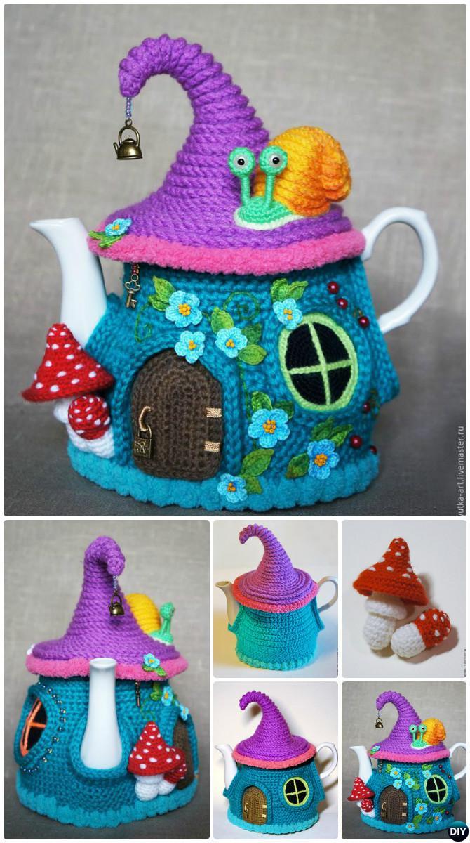 Knitted Tea Cosy Pattern Easy 25 Crochet Knit Tea Cozy Free Patterns