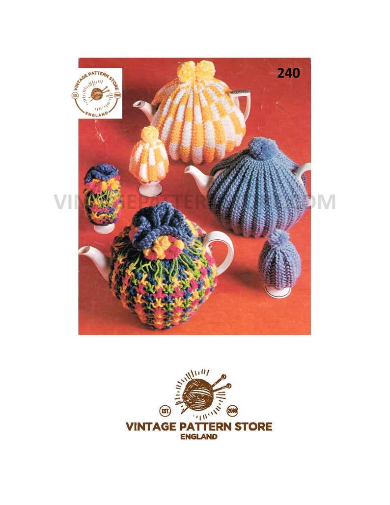 Knitted Tea Cosy Pattern Easy Easy To Knit Tea Cosy Knitting Pattern Fluted Floral And Ribbed Tea Cosy Patterns 70s Tea Egg Cosy Patterns Pdf Download 240