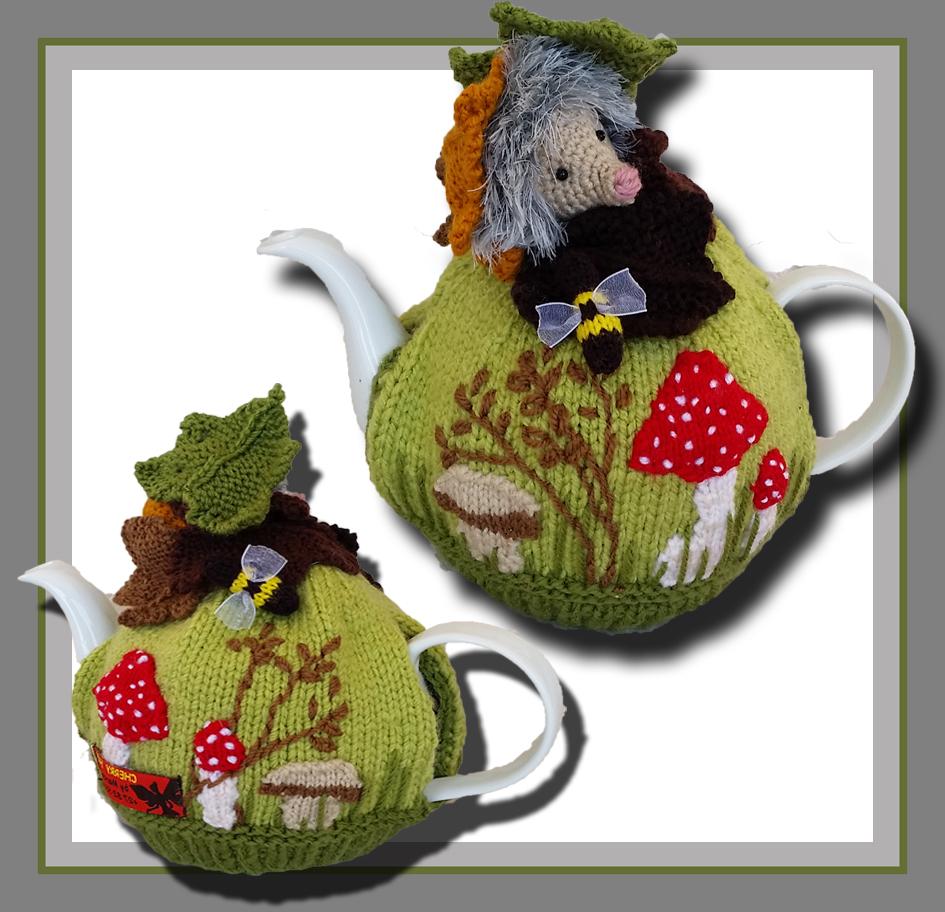 Knitted Tea Cosy Pattern Easy Hedgehog Mushroom Tea Cozy Pattern