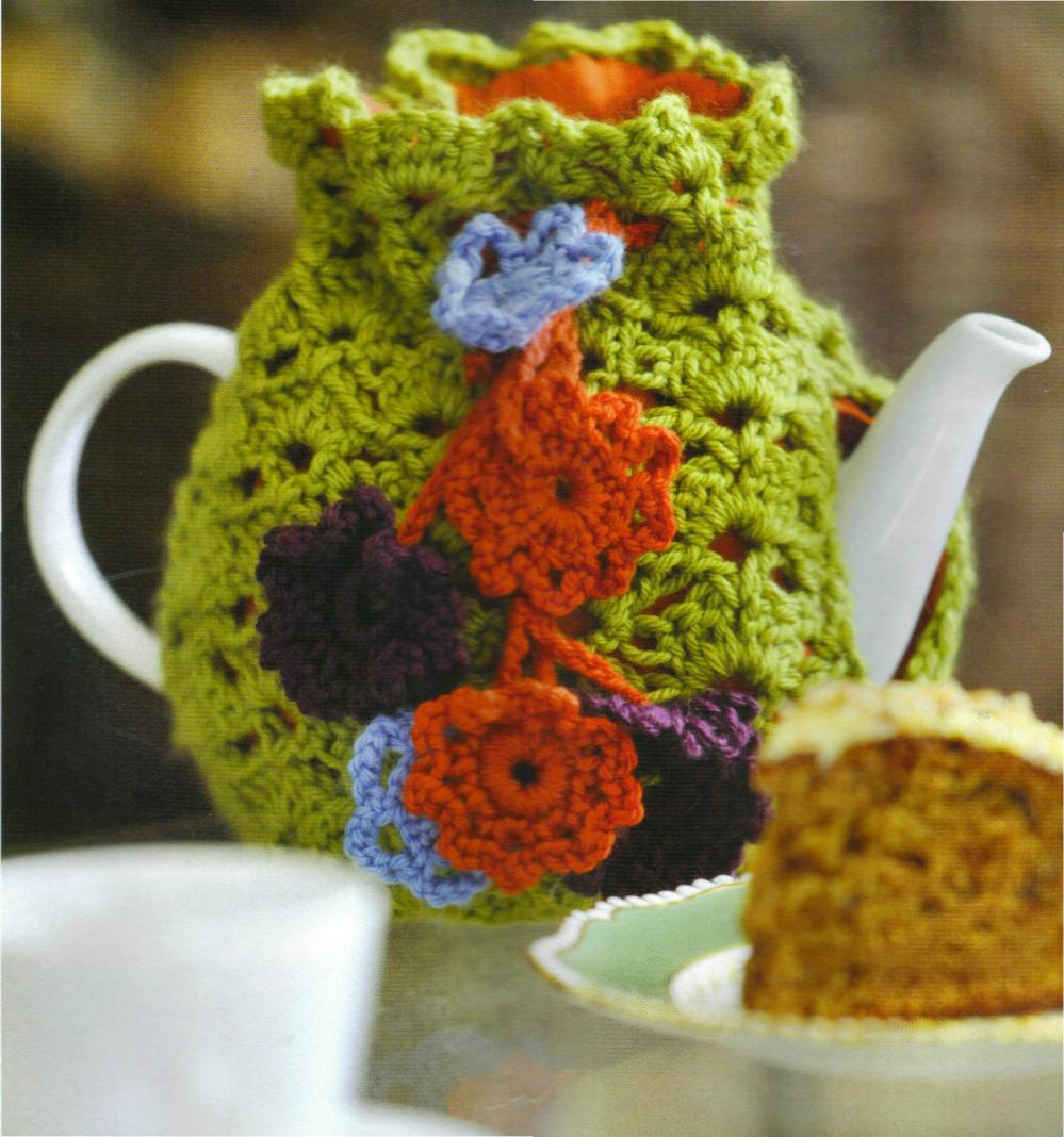 Knitted Tea Cosy Pattern Easy Pdf Vintage Crochet Pattern To Make A Flower Drawstring Tea Cosy Cozy Easy Fit
