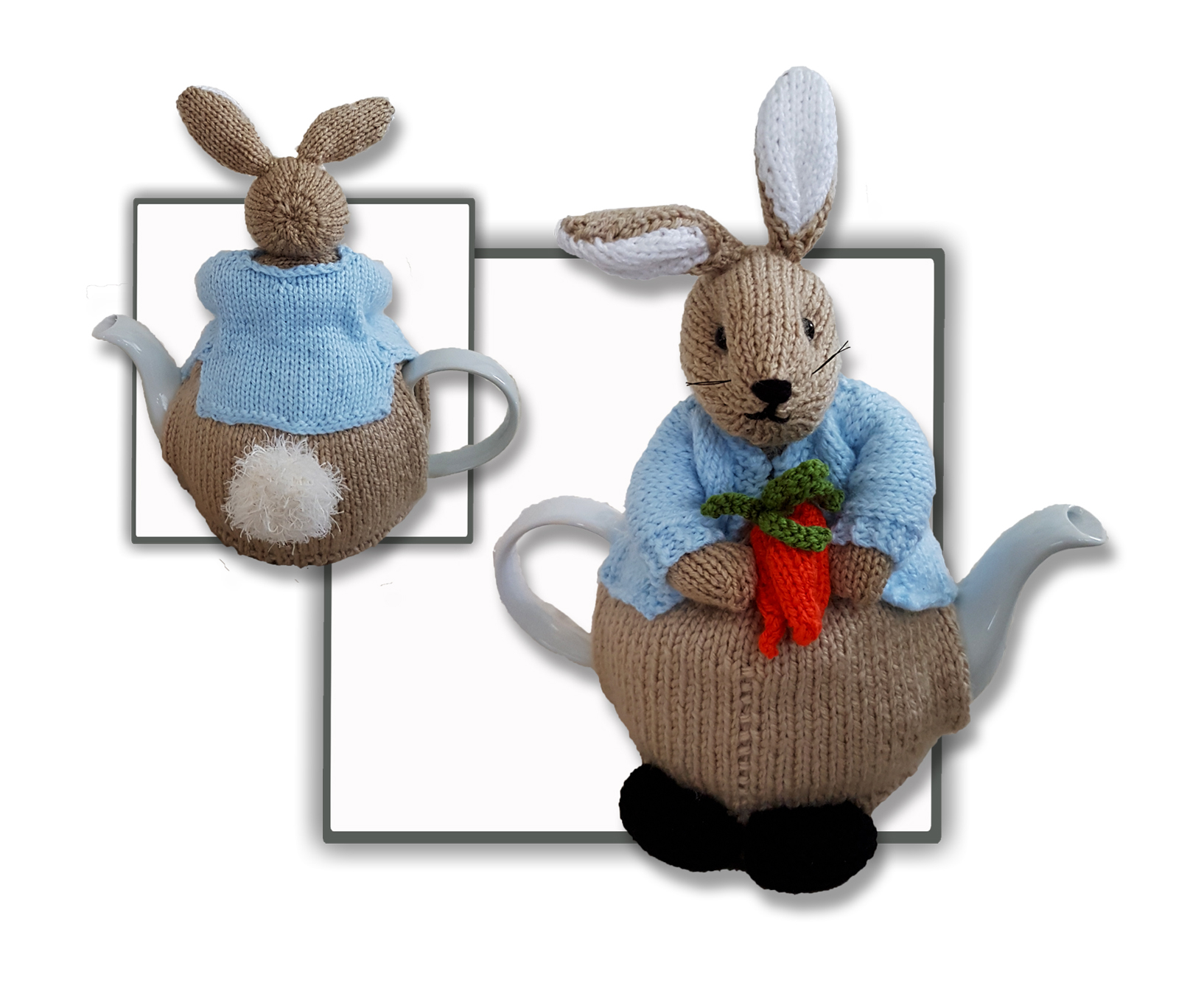 Knitted Tea Cosy Pattern Easy Peter Bunny Rabbit Tea Cosy