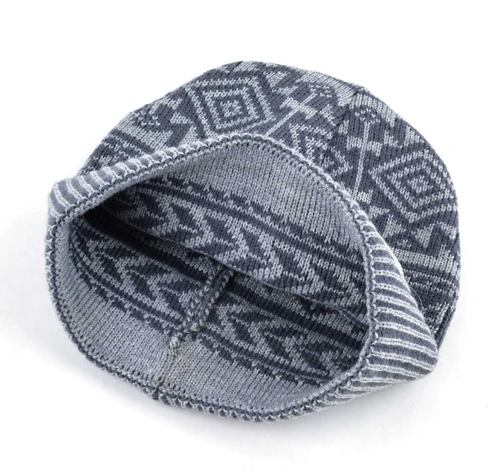 Knitting Pattern Balaclava 2018 Autumn And Winter Beanie Jacquard Cap Mens Skullies Bonnet Wool Hat Balaclava Knit Hats For Men Meanies Chapeau