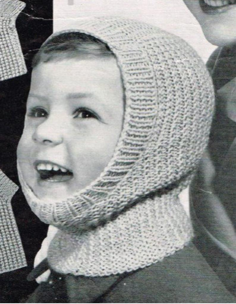 Knitting Pattern Balaclava Childrens Balaclava Knitting Pattern Girls And Boys Easy Knit Balaclava Bobble Hat Pattern Ages 2 14 Years Instant Pdf Download 446