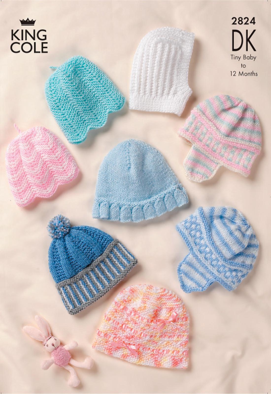Knitting Pattern Balaclava Details About Ba Dk Double Knitting Pattern King Cole Hats Bobble Hat Balaclava Bonnet 2824