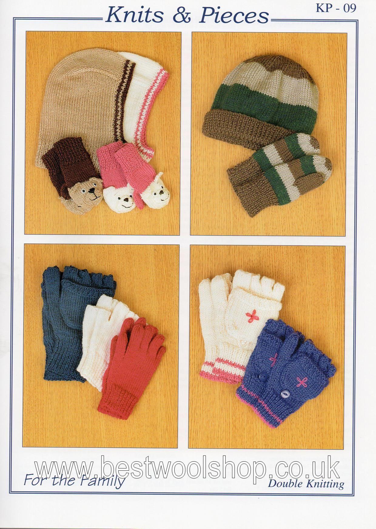 Knitting Pattern Balaclava Kp 09 Knits Pieces Balaclava Teddy Mittens Hat Fingerless