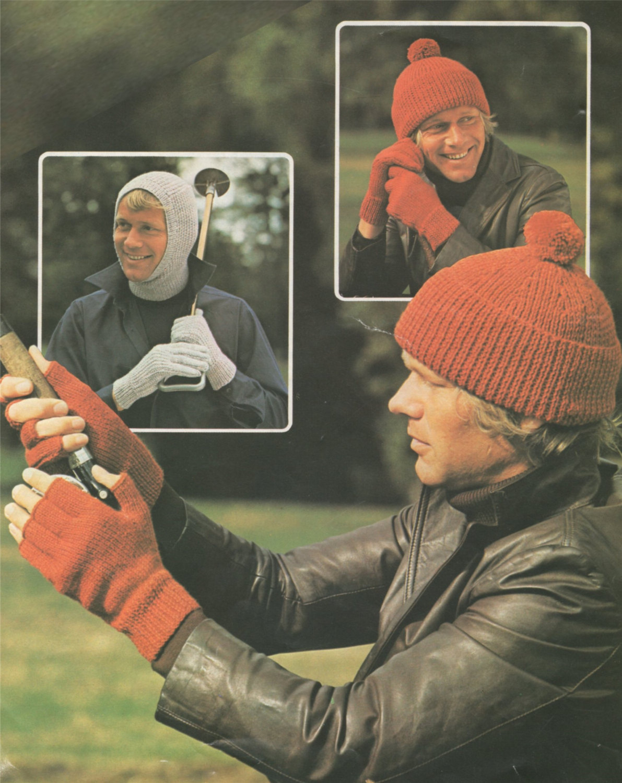 Knitting Pattern Balaclava Mens Balaclava Hat Fingerless Gloves And Gloves Knitting Pattern