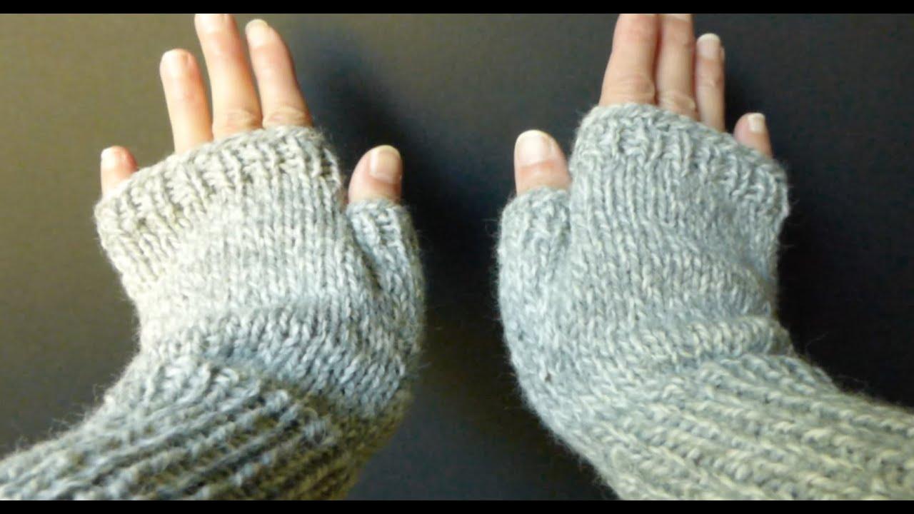 Knitting Pattern For Gloves Easy Simple Basic Fingerless Gloves Adult Smmed Size 4 Advanced Beginner