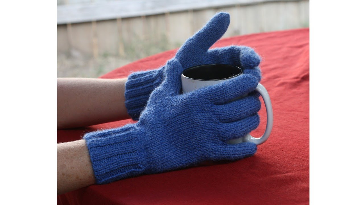 Knitting Pattern For Gloves Learn To Knit Gloves Parts 1 9