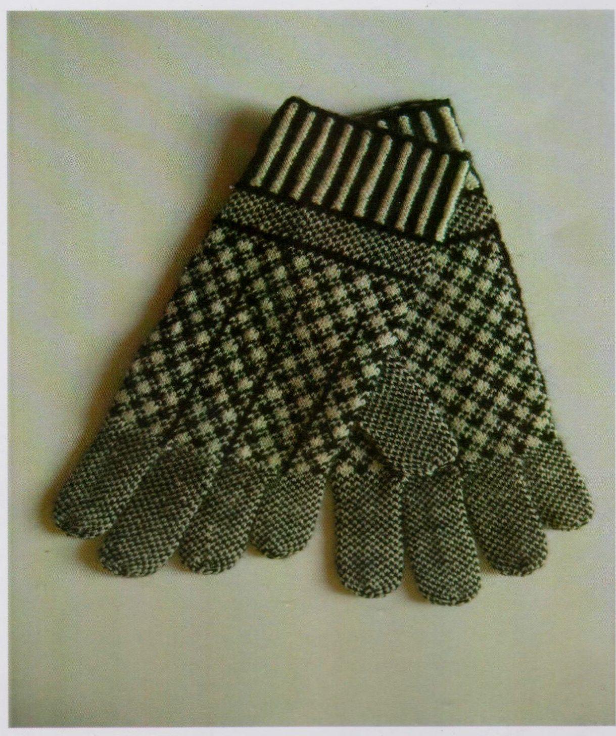 Knitting Pattern For Gloves Pdf Vintage Knitting Pattern Sanquhar Gloves Prince Of Wales Design