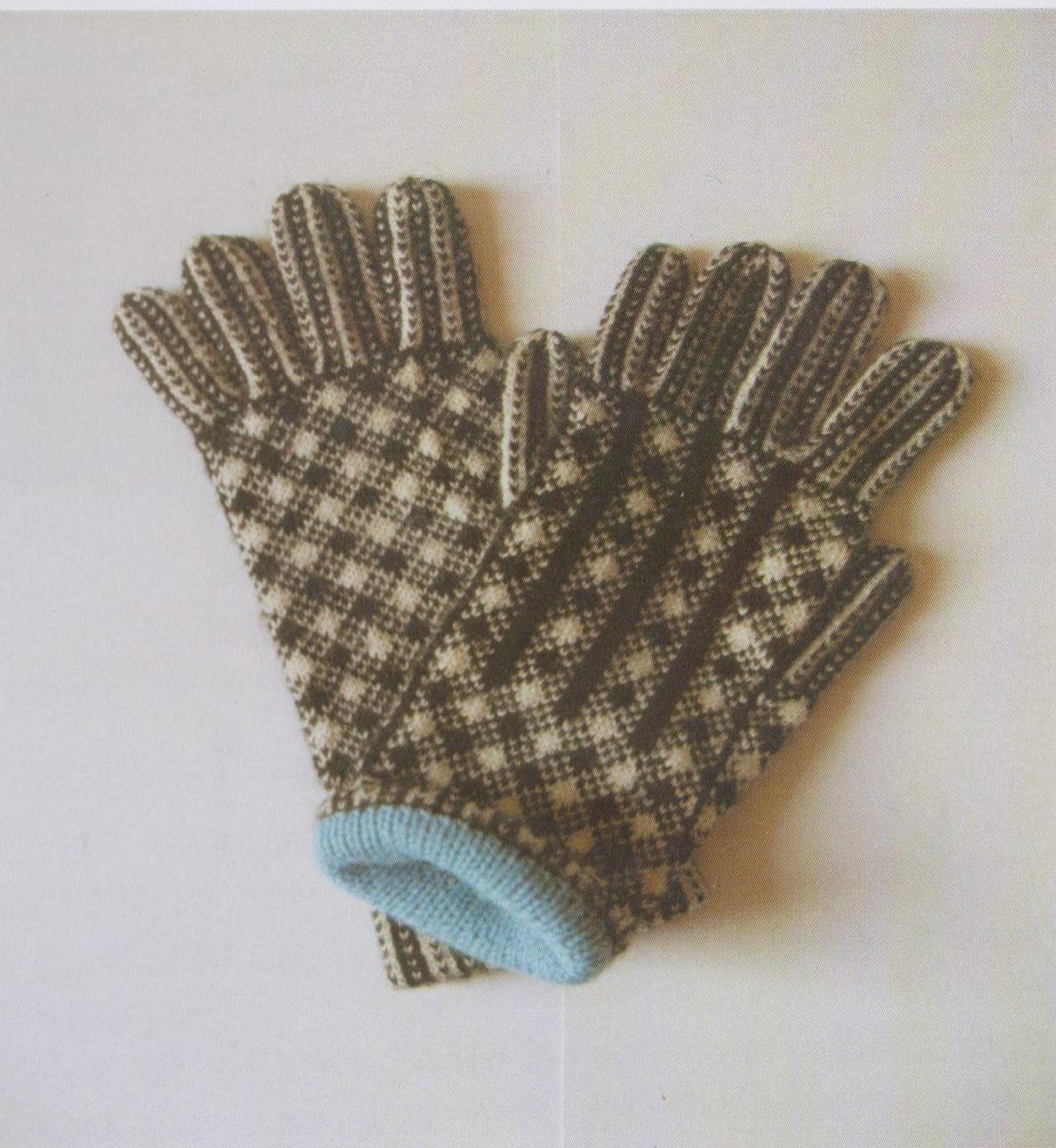 Knitting Pattern For Gloves Pdf Vintage Knitting Pattern Sanquhar Gloves Shepherds Plaid