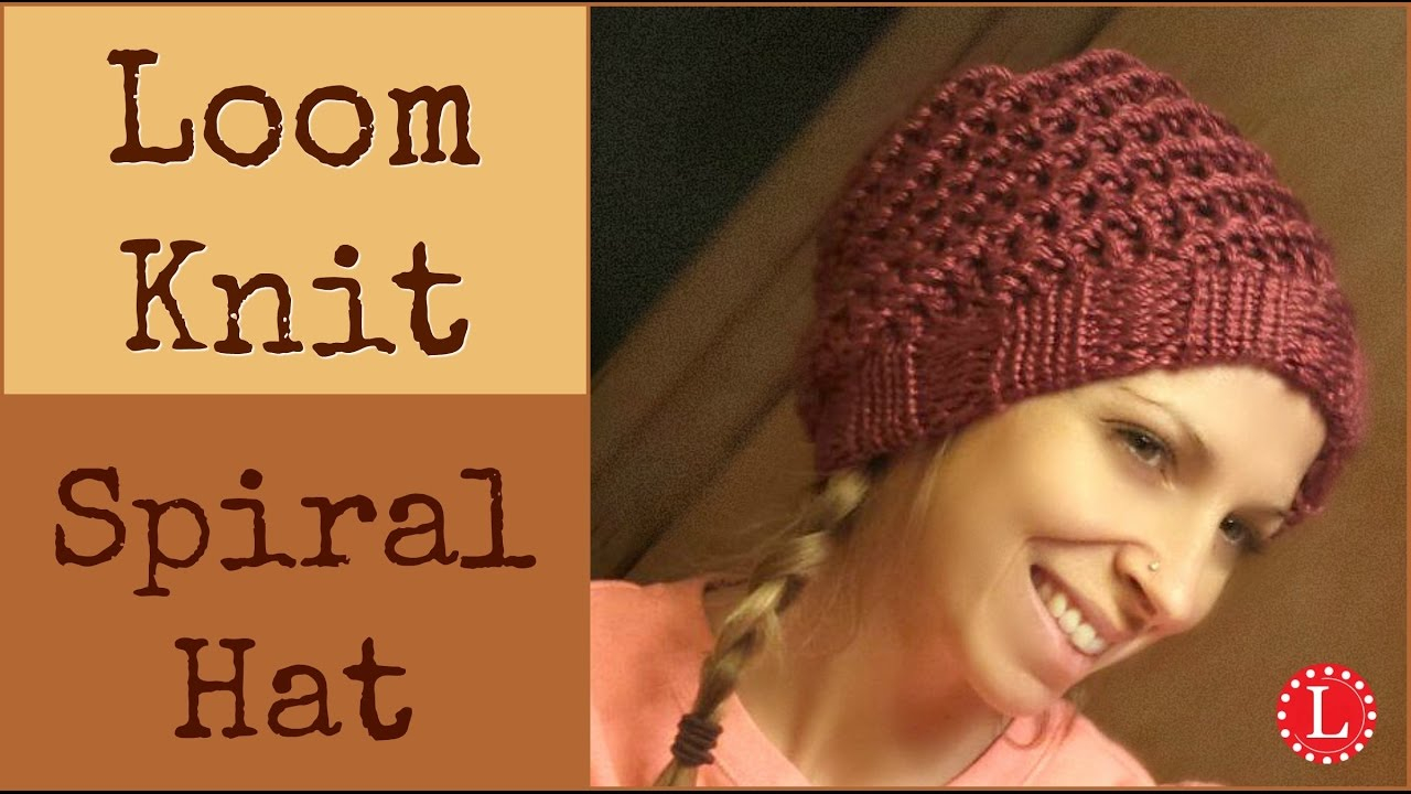 Loom Knit Hat Patterns Free Loom Knit Hat Easy Spiral Hats Step Step For Beginners Loomahat