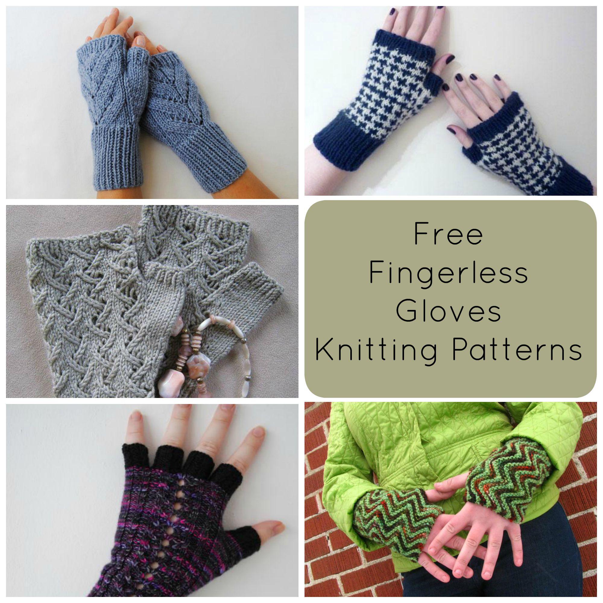 Mens Fingerless Gloves Knit Pattern Knitting For Beginners Craft Blog Crochet Patterns