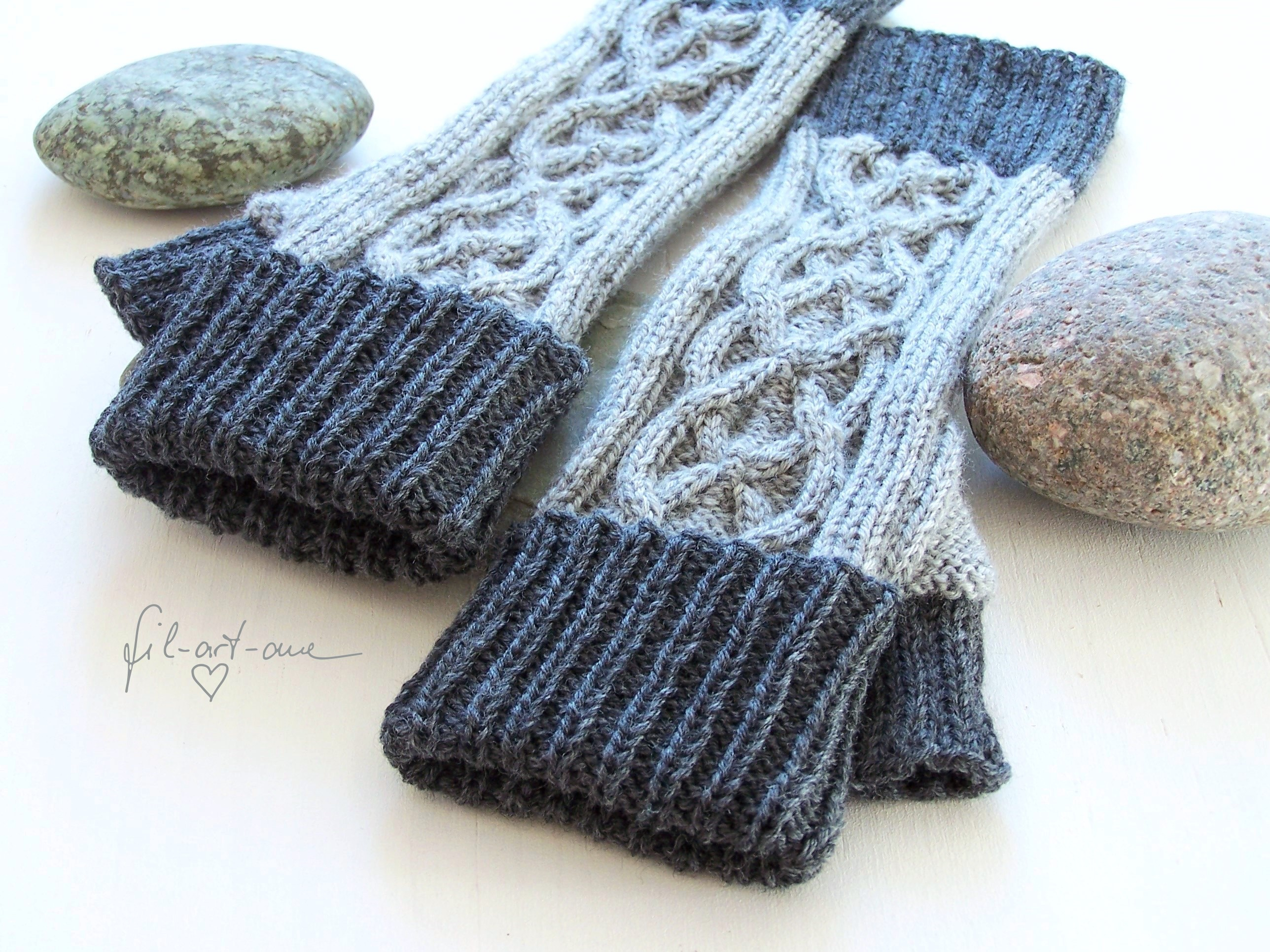 Mens Fingerless Gloves Knit Pattern Knitting Pattern Fingerless Mitts With Celtic Cables For Him And Her 3 Sizes
