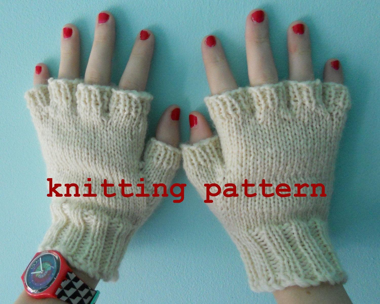 Mens Fingerless Gloves Knit Pattern Knitting Pattern Pdf Fingerless Gloves For Men And Women