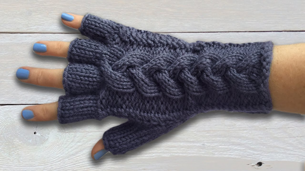 Mens Fingerless Gloves Knit Pattern Ladies Fingerless Gloves With Plaited Cable Part Two The Main Glove