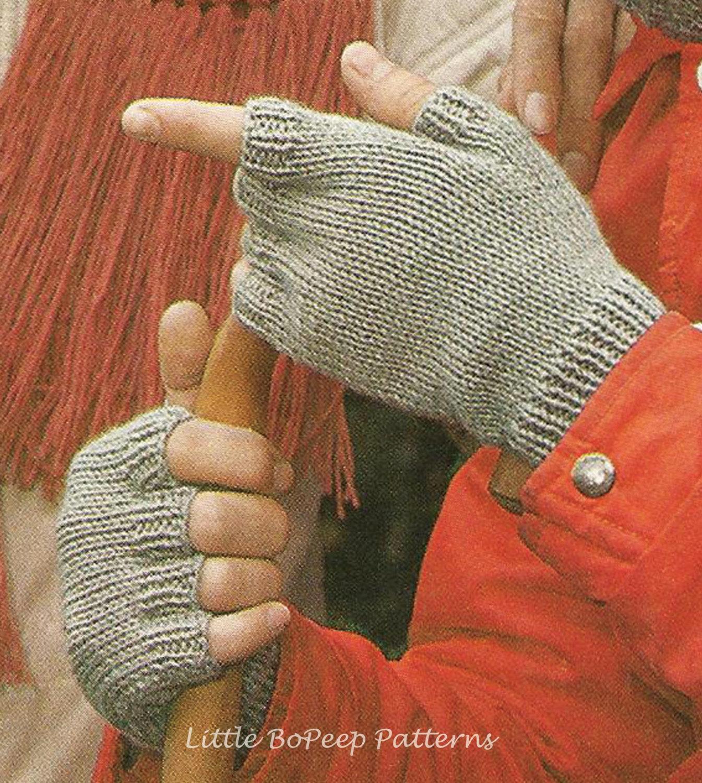 Mens Fingerless Gloves Knit Pattern Mens Fingerless Mitts Knitting Pattern Pdf