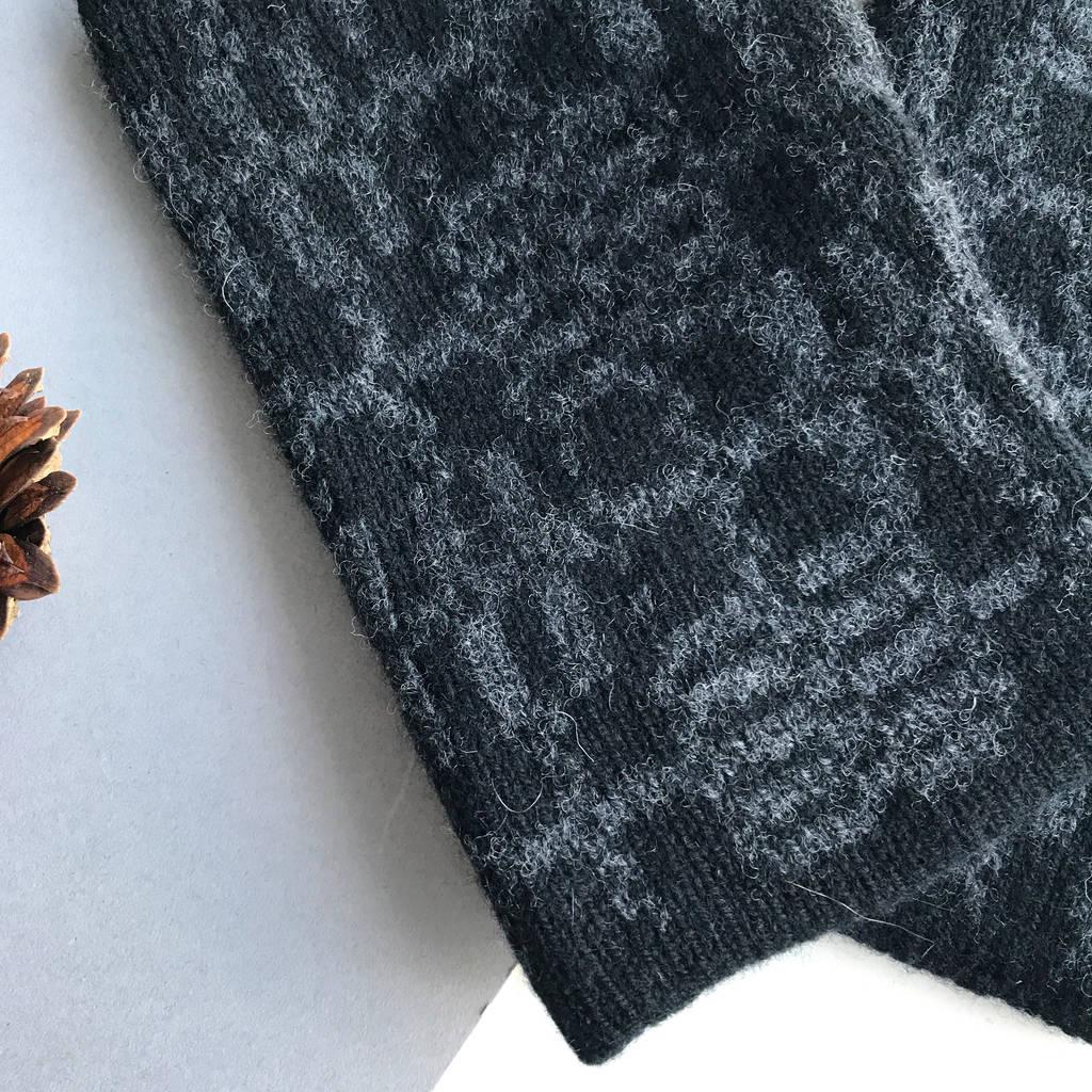 Mens Fingerless Gloves Knit Pattern Mens Lambswool Knitted Fingerless Gloves