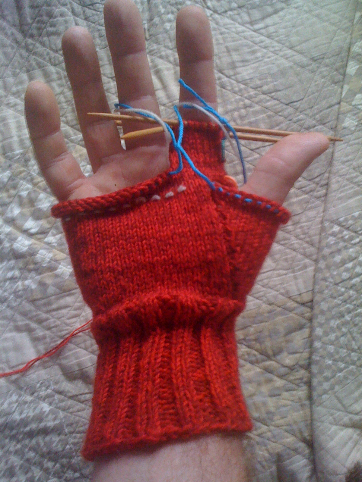 Mens Fingerless Gloves Knit Pattern Tonys Knitting Mens Fingerless Gloves